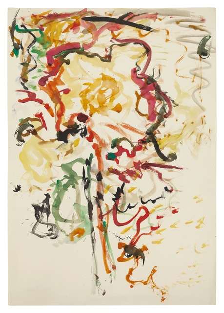 Fritz Ascher, 'Flower', undated, Drawing, Collage or other Work on Paper, Watercolor on paper, New York Studio School
