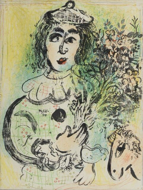 Marc Chagall, 'Le Clown Fleuri', 1963, Print, Lithograph, Fine Art Acquisitions Dali
