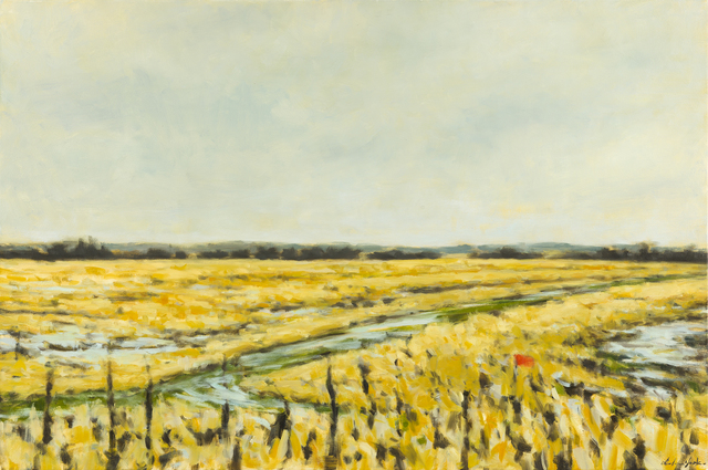 Dolores Justus, 'Red Sign and Field', 2014, Greg Thompson Fine Art