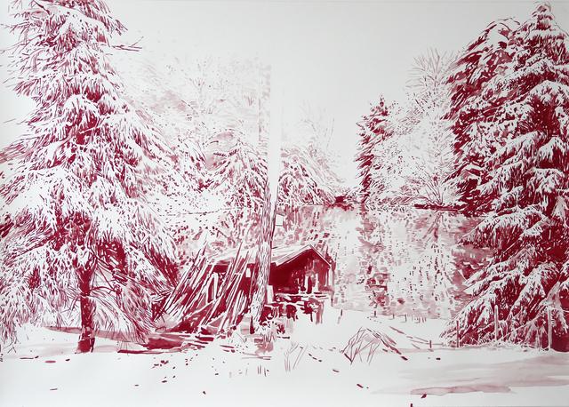 , 'Rote Hütte am See,' 2014, Victor Lope Arte Contemporaneo