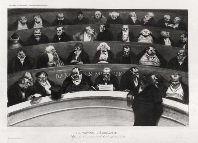 , 'Le Ventre Législatif: Aspect des bancs ministériels de la chambre improstituée de 1834,' 1834, David Tunick, Inc.