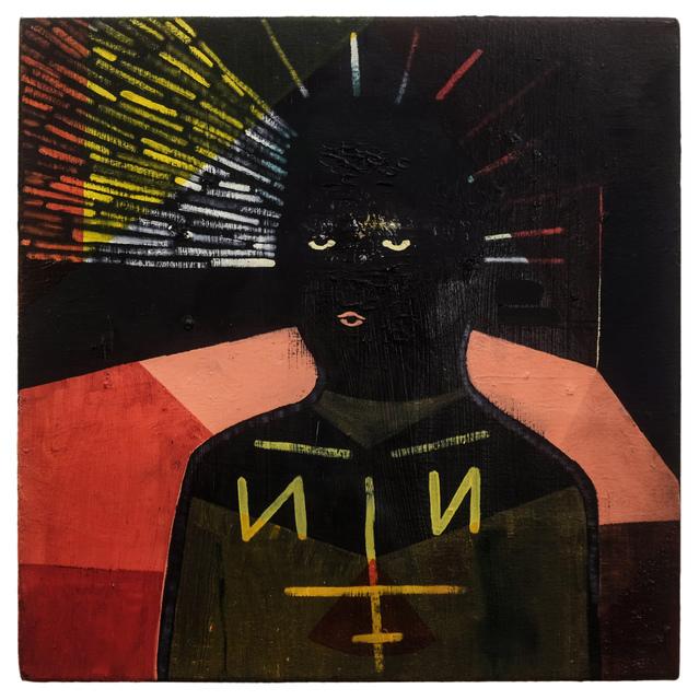 , 'Self Portrait as Geordie with the Vision,' 2016, American Medium