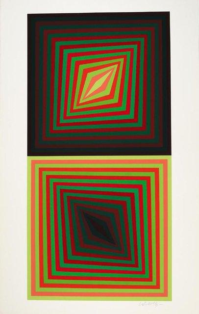 Victor Vasarely, 'Usteok', 1975, Print, Serigraph, Kunzt Gallery