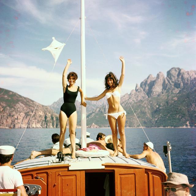 , 'Jean-Claude Aimini, Stefania Sabatini and Yveline Céry in Jacques Rozier's film : Adieu Philippine #3, Calvi Corsica, ,' 1960, Boogie Woogie Photography