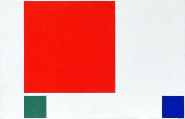 , 'Proposición del cyan al ultramar, cuadrado rojo,' 1985, Henrique Faria Fine Art