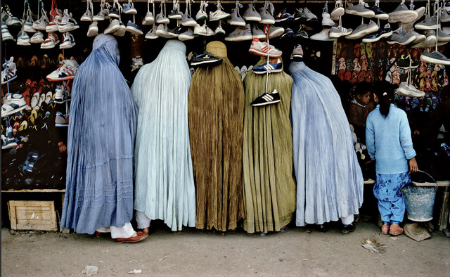 , 'Afghan Women at Shoe Store, Kabul, Afghanistan,' 1992, Etherton Gallery