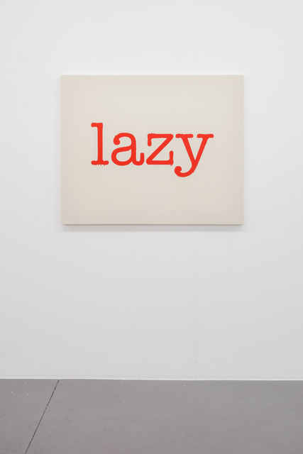 , 'Untitled (lazy),' 2016, Lange + Pult