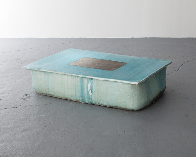 , 'Ceramic stool in traditional grayish-blue powdered-celadon glaze.,' 2013, Jeff Lincoln Art+Design