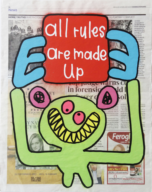 , 'All Rules Are Made Up,' 2019, Kalkman Gallery