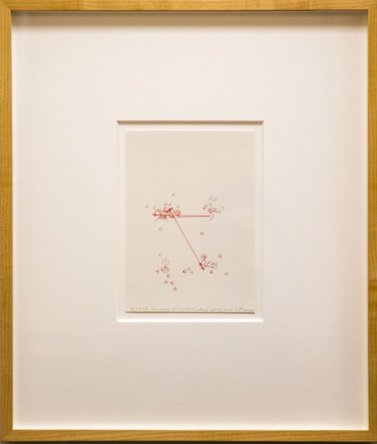 Janet Cohen, '10-24-07 Colorado at Boston (World Series, Game 1), 1st Inning, Estimating Space', 2007, Friends Seminary Benefit Auction