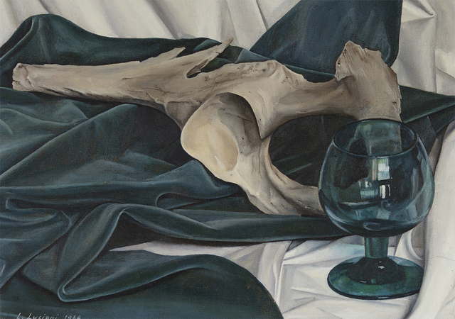 Luigi Lucioni, 'Still Life, Blue and Gray', 1964, Painting, Oil on canvas, Questroyal Fine Art