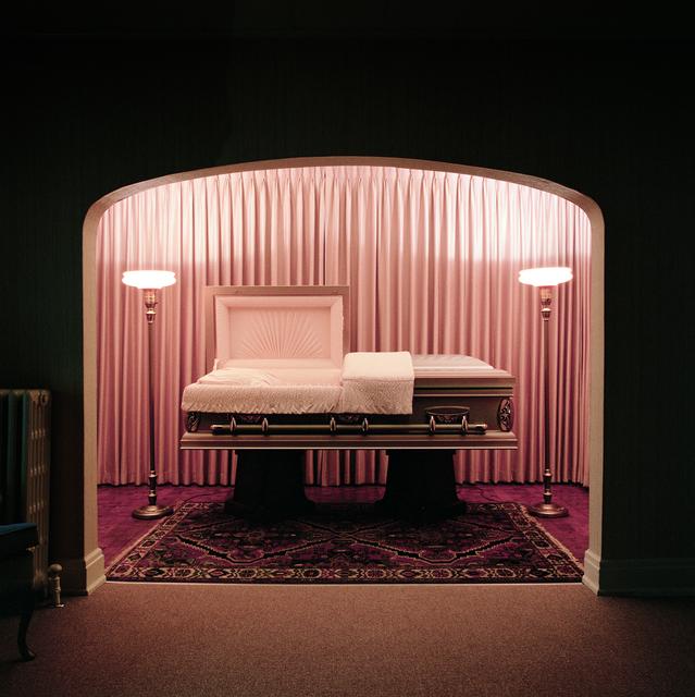 , 'Casket Showroom, Carter Funeral Home, Syracuse, NY,' 1986, George Eastman Museum