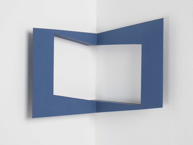 , 'corner - equal areas and spaces - dark blue,' 1985, Edition & Galerie Hoffmann