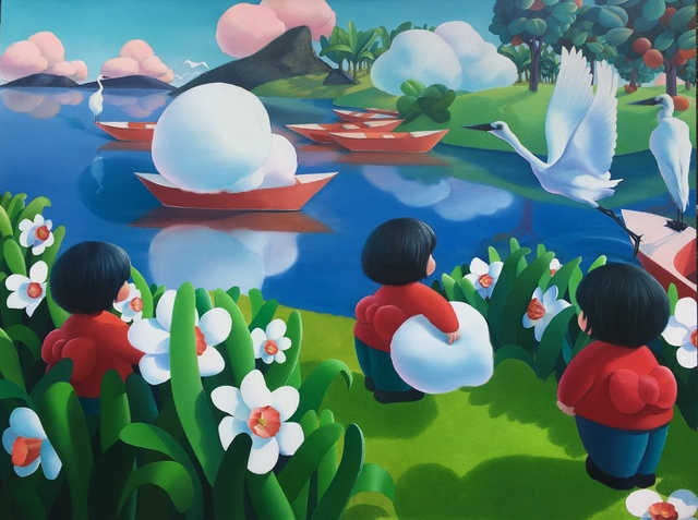 Ma Dan 马丹, 'Glimpse of a Small World-Try to hold a floating cloud', 2019, Amy Li Gallery
