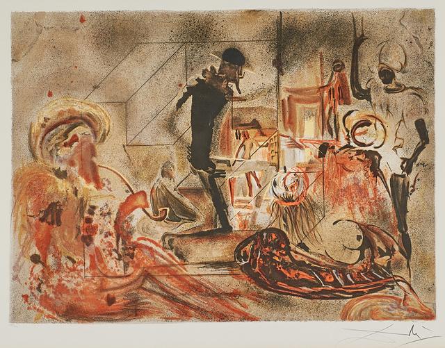 Salvador Dalí, 'Studio of Dali', 1965, Print, Lithograph in colors (framed), Rago/Wright