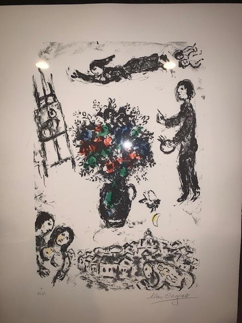 Marc Chagall, 'Bouquet Sur La Ville (Bouquet over the Town)', 1983, Print, Color lithograph, Rachael Cozad Fine Art
