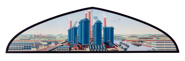 """, 'Entwurf für Wandbild """"Industrielandschaft"""" ,' 1934, Galerie Michael Hasenclever KG"""