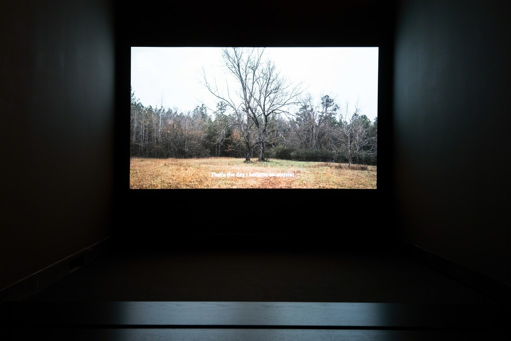 Installation view, The Legacy of Lynching at Cantor Fitzgerald Gallery. Photo: Lisa Boughter.