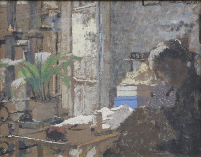 Édouard Vuillard, 'Madame Vuillard cousant. Au verso étude de femme assise', 1898, HELENE BAILLY GALLERY