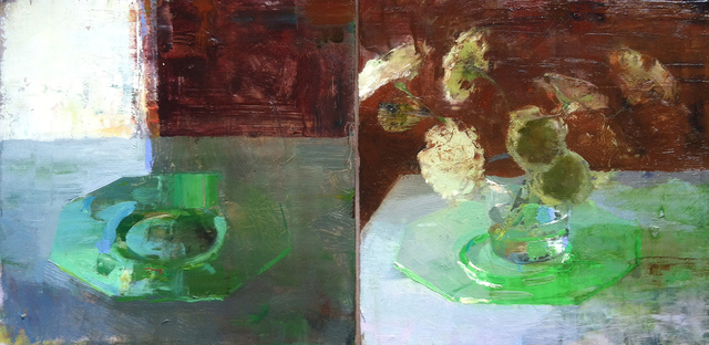 , 'Diptych with Green Plate,' 2015, Somerville Manning Gallery