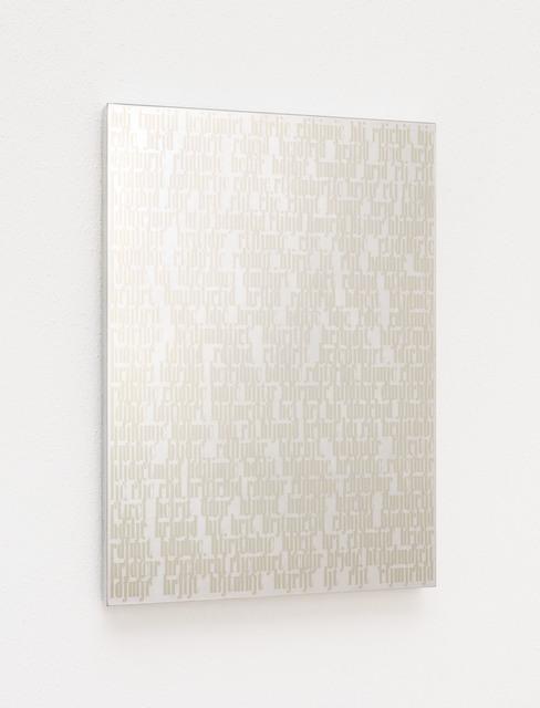 , 'Global Writings A,' 2000-2008, Galerija Gregor Podnar