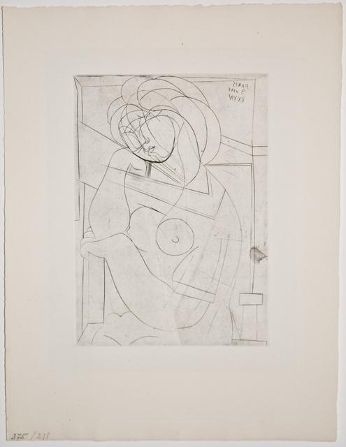 , 'Femme au Fauteuil songeuse, la Joue sur la Main (S.V. 21),' 1934, John Szoke
