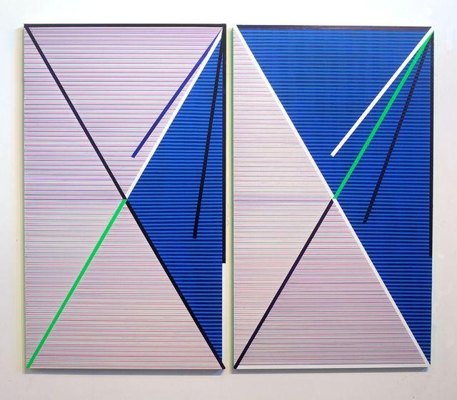 , 'Stripe Diptych,' 2017, Freight + Volume
