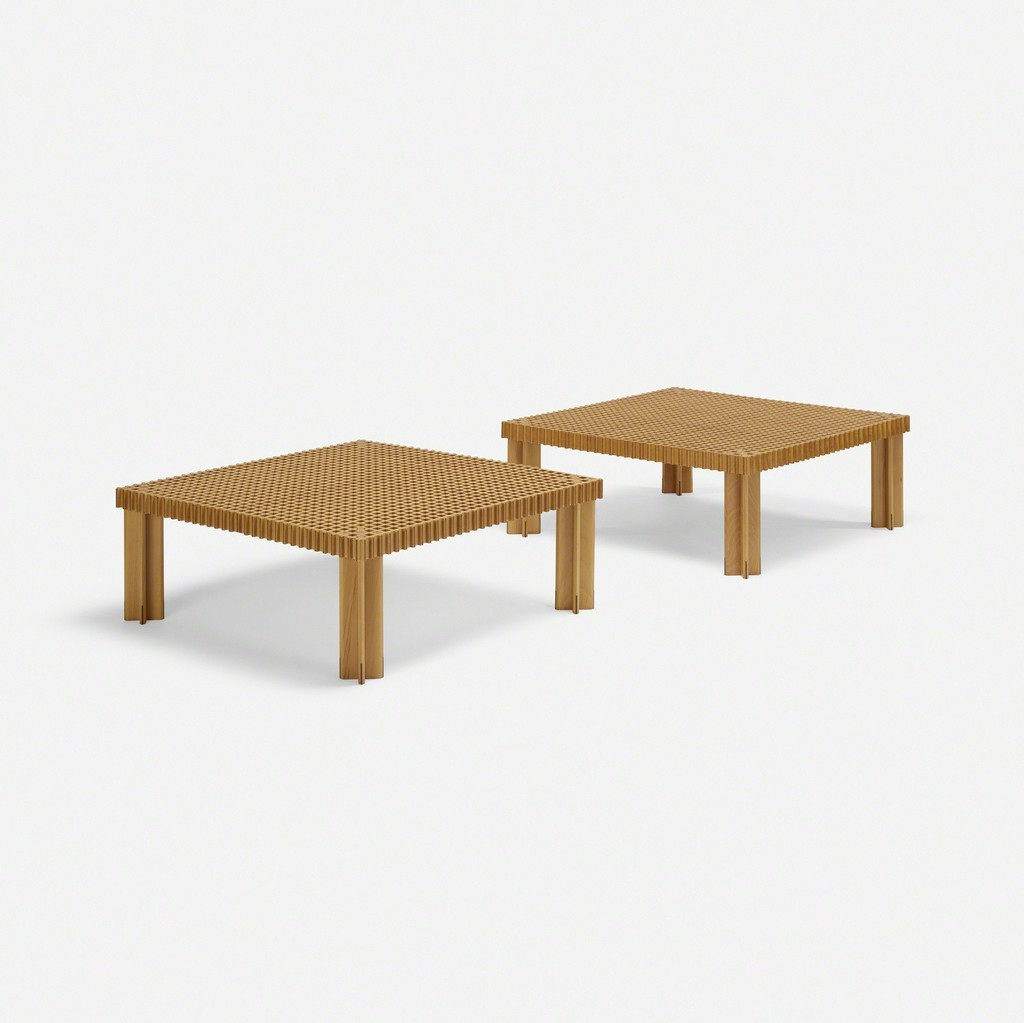Gianfranco Frattini, U0027Kyoto Coffee Tables, Pairu0027, 1974, Wright
