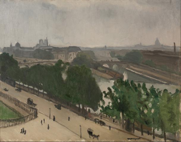 Albert Marquet, 'Vue de Paris avec Notre-Dame et le Vert-Galand', ca. 1909, BAILLY GALLERY