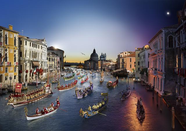 Stephen Wilkes, 'Regatta Historica, Venice', 2015, Photography, Archival C-Print, Bryce Wolkowitz Gallery