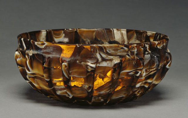 'Ribbed Bowl',  1st century B.C. -1st century A.D., J. Paul Getty Museum