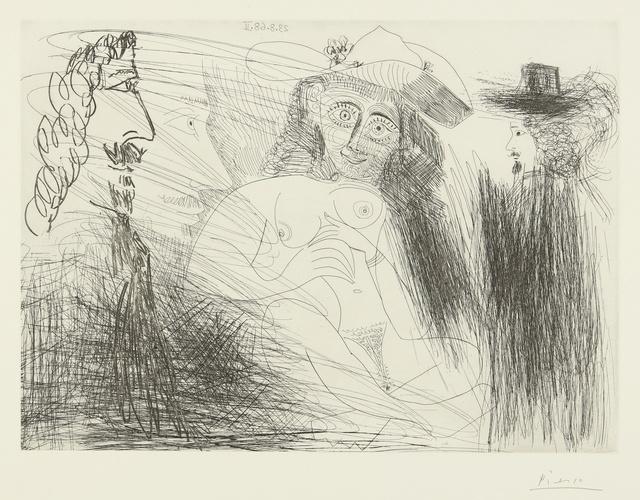 Pablo Picasso, 'Peintre, modèle au chapeau de paille, et gentilhomme (B. 1773; Ba. 1790)', 1968, Sotheby's