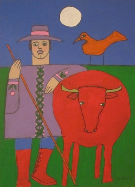, 'Man with ox,' 2002, Art Collection NYC