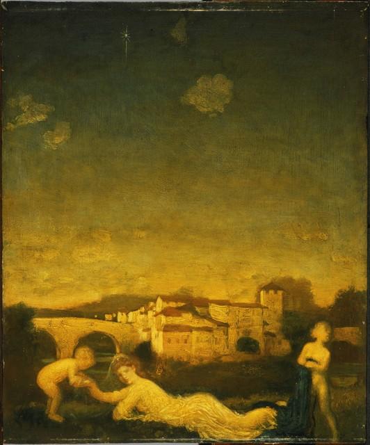 Arthur Bowen Davies, 'Viola Obligato', 1895, Painting, Oil on wood panel, Phillips Collection