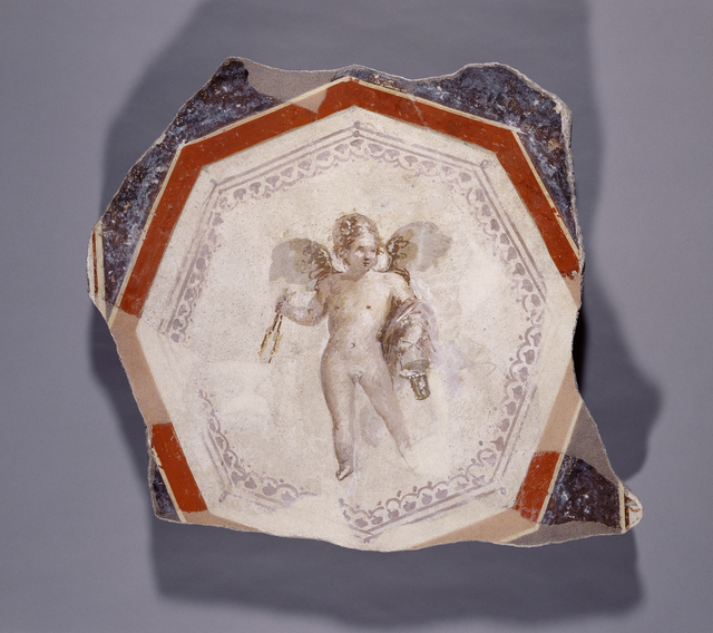 'Fresco Depicting Cupid holding Two Sticks and a Pail',  1st century, J. Paul Getty Museum