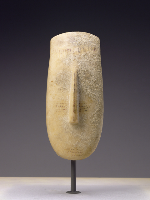 'Head of a Figure of the Early Spedos Variety', 2600 BCE -2500 B.C., J. Paul Getty Museum