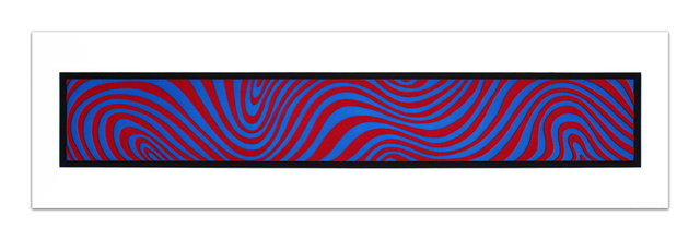, 'Blue and Red, from: Wavy Irregular Bands,' 1996, Cristea Roberts Gallery