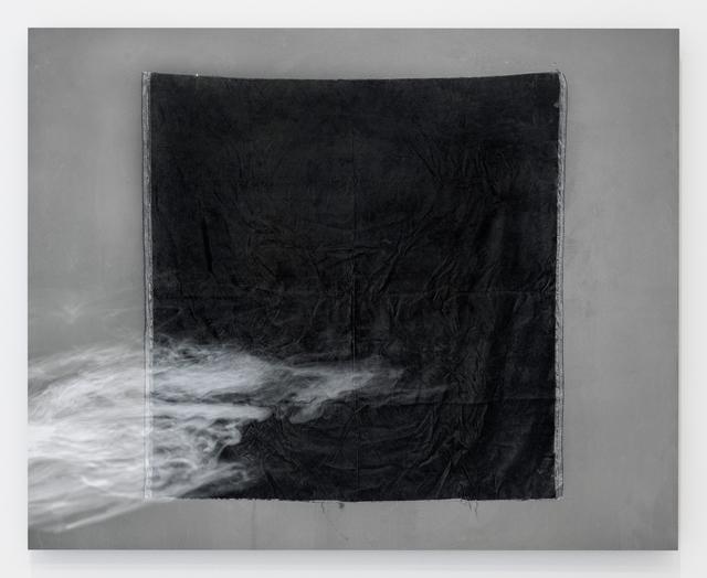 , 'Studio Study No. 2 (black velvet, smoke),' 2017, Grant Wahlquist Gallery