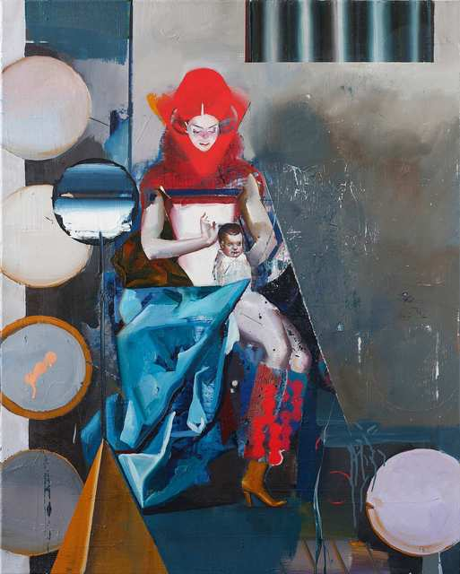 Rayk Goetze, 'Madonna (Set)', 2018, Painting, Oil and acrylic on canvas, Josef Filipp Galerie