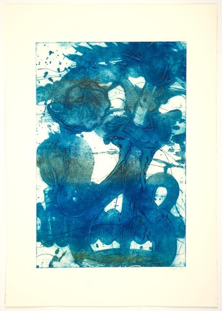 , 'Bouquet (Sunflower, Ultra Blue),' 2019, Manneken Press