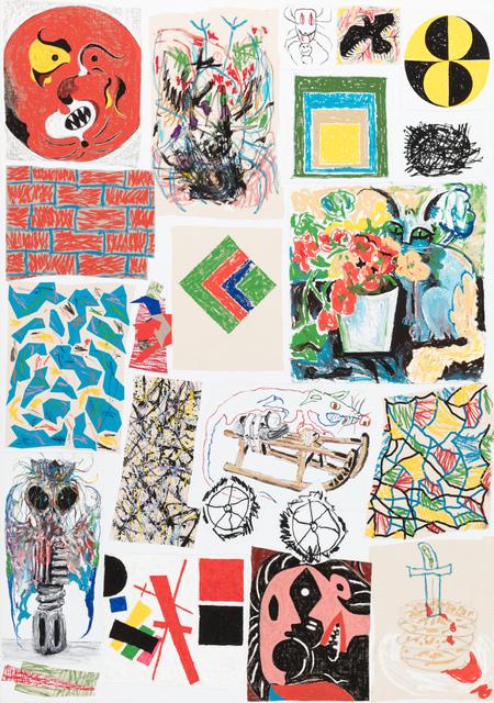 , 'Cat and Flowers,' 2018, Stevenson