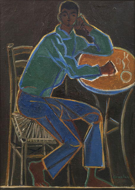 , 'Seated Figure in a Café,' 1953, Osborne Samuel