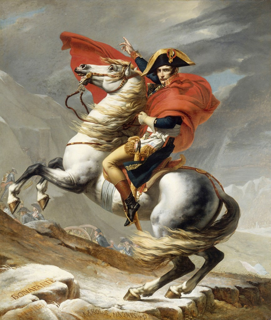 Image result for image of napoleon, David