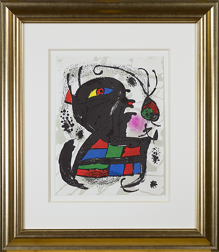 ", 'Original Lithograph from ""Miro Lithographs III, Maeght Publisher"",' 1977, David Barnett Gallery"