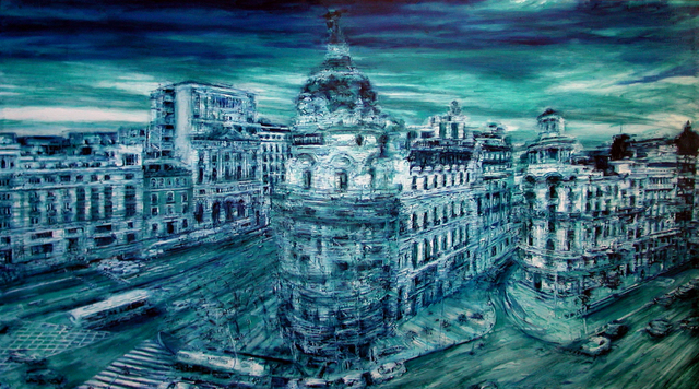 , 'Madrid Gran Via Blu ,' 2011, ARTION GALLERIES