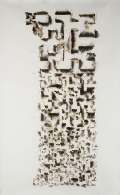 Jitish Kallat, 'Wind Study (Hilbert Curve)', 2017, Sperone Westwater