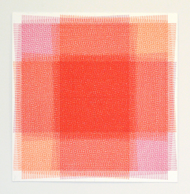, '32 Layers of Rectangles, Pink and Orange,' 2016, ODETTA