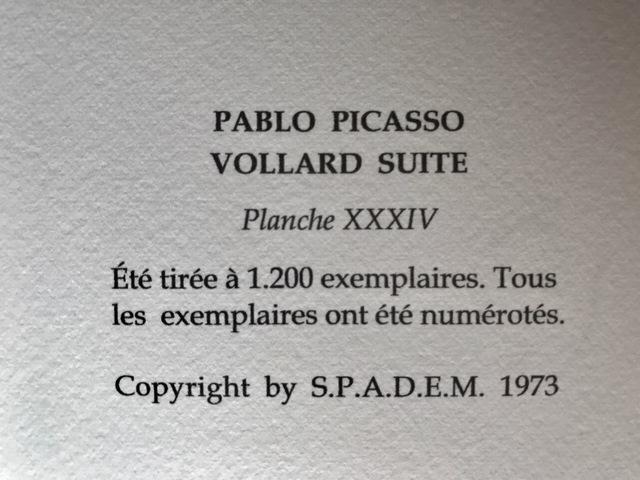Pablo Picasso, 'Rembrandt au turban aux fourrures et à l'oeil d'éléphant (Suite Vollard Planche XXXIV)', 1973, ByNewArt