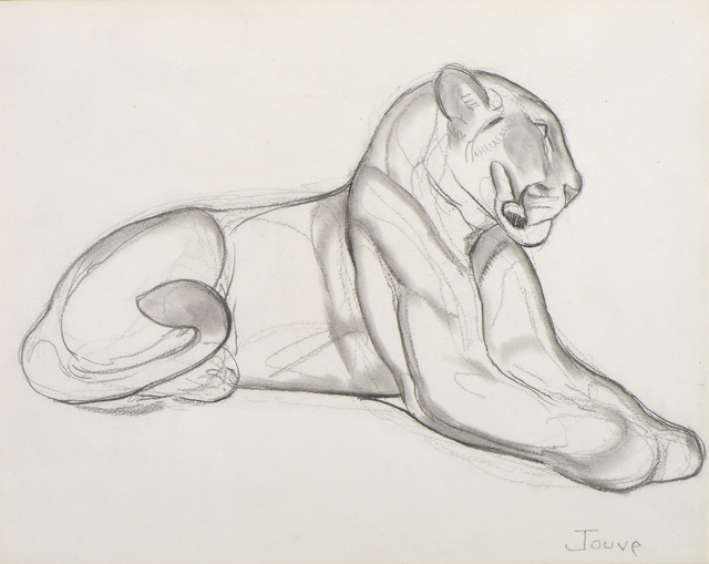 , 'Panther resting,' ca. 1930, Galerie Marcilhac