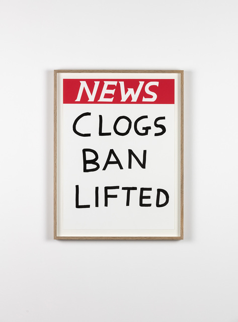 , 'Untitled (Clogs Ban Lifted),' 2017, Galleri Nicolai Wallner